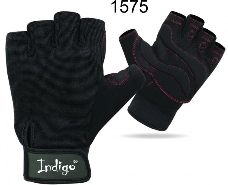 Перчатки атлетические INDIGO SB-16-1575 (кожа, неопрен, спандекс)