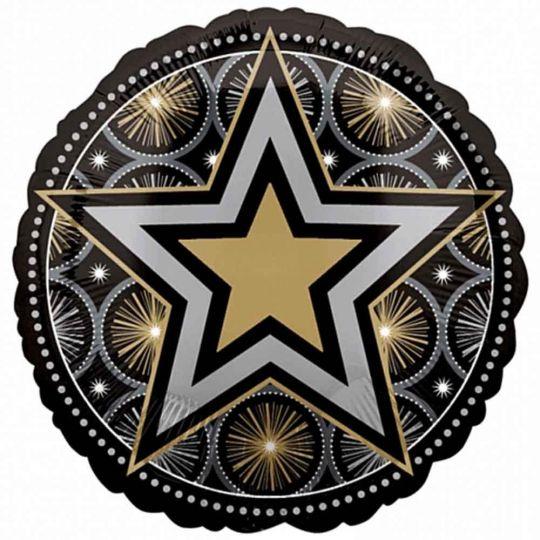 Звезда Голливуда шар фольгированный с гелием