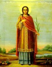 Капитолина Каппадокийская (копия старинной иконы)