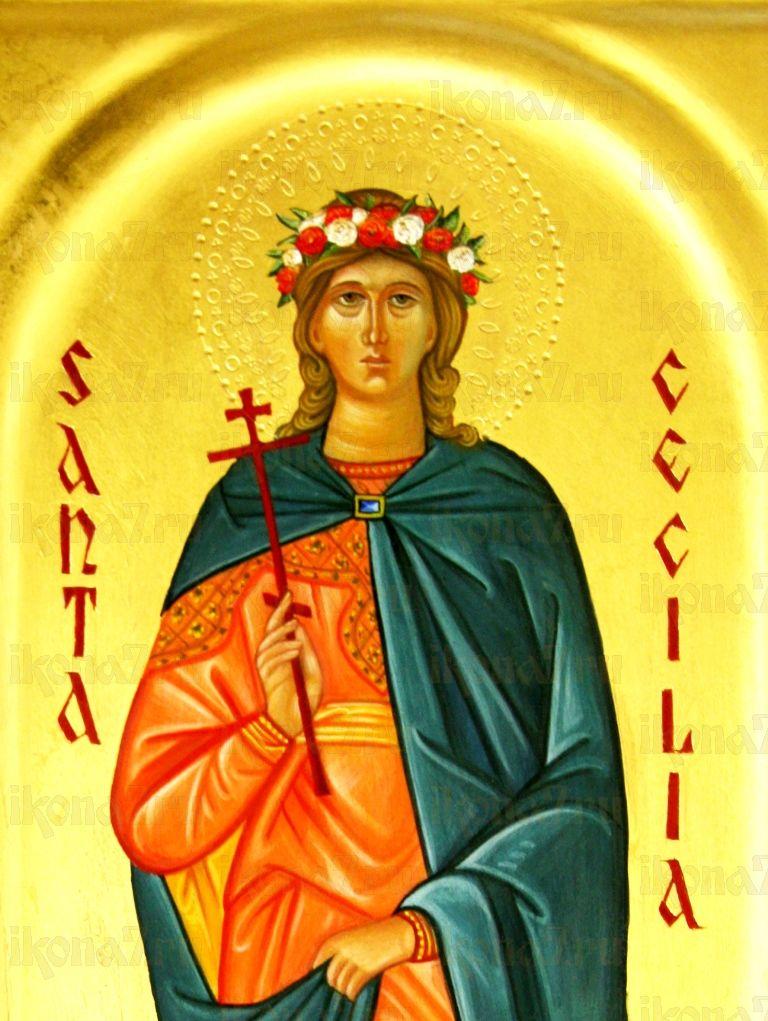 Кикилия Римская (икона на дереве)