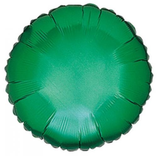 Круг зеленый большой шар фольгированный с гелием