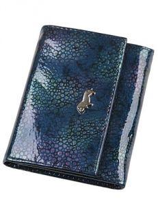 Синий лакированный кошелёк