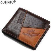 Мужской кожаный кошелек GUBINTU