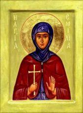 Икона Емилия Кесарийская (копия старинной)