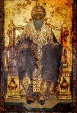 Икона Спиридон Тримифунтский (копия старинной)