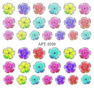 Слайдер-дизайн для ногтей № 0320