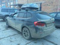 Багажник на интегрированные рейлинги BMW X1, Евродеталь, крыловидные дуги