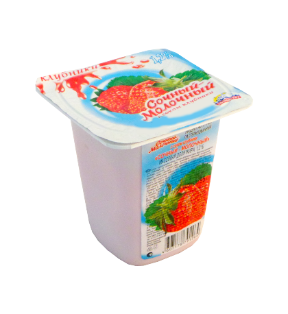 Йогурт Альпенгурт Сочный-молочный 1,2% клубника 95г