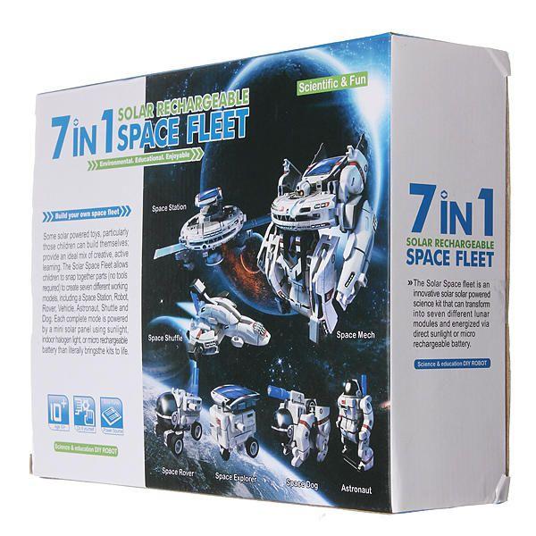 Конструктор На Солнечной Батарее SPACE FLEET 7 В 1