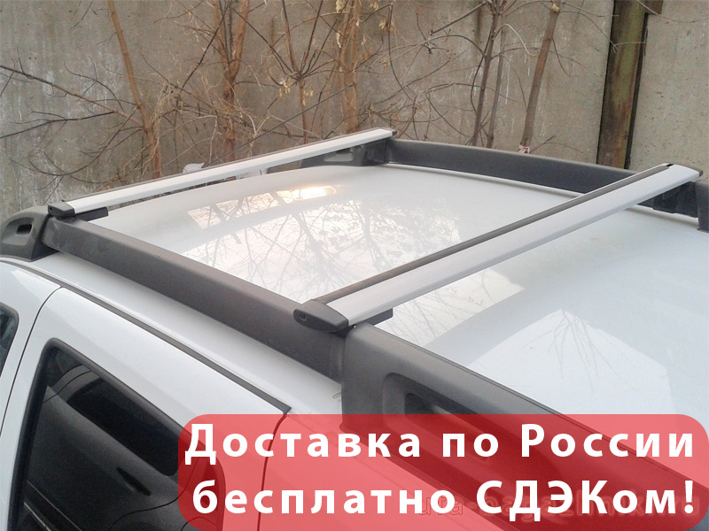 Багажник на крышу Renault Duster 2, Vamer-Евродеталь, крыловидные дуги на рейлинги