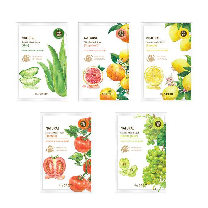 The SAEM Маска тканевая Natural Skin Fit Mask Sheet 20ml