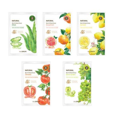 The SAEM Маска тканевая Natural Skin Fit Mask Sheet 20ml