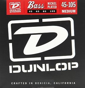 DUNLOP 2PDBN45105 (045-105) Струны для бас-гитары (4 стр) 2 компл.