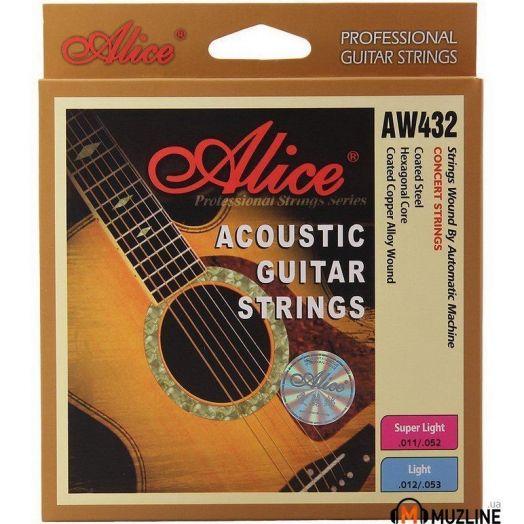 ALICE AW432P-SL (011-052) Струны для акустической гитары
