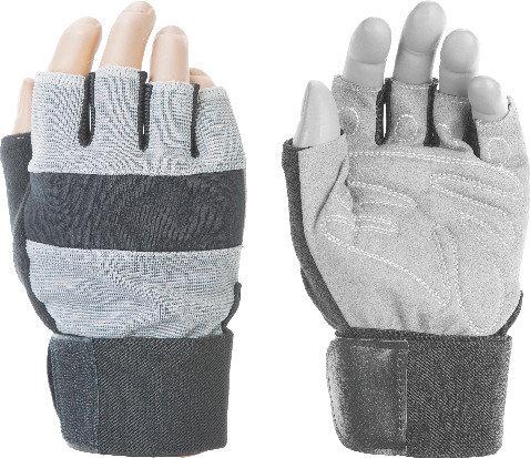 Перчатки тяжелоатлетические INDIGO 97867 (микрофибра, полиэстер)