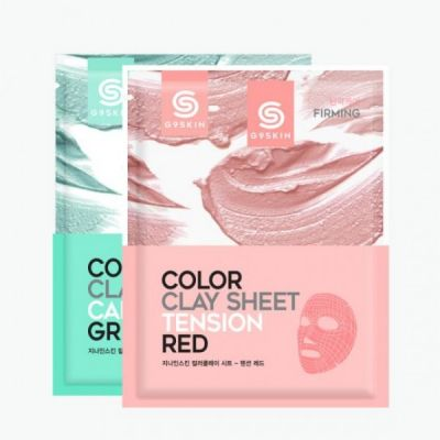 Berrisom G9 Маска для лица глиняная листовая  G9SKIN COLOR CLAY SHEET 20гр