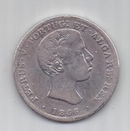 500 рейс 1856 г. редкий тип. Португалия.