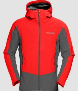 NORRONA Falketind Windstopper hybrid Jacket (M) CRIMSON KICK RED