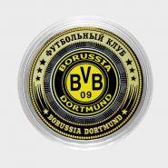 10 рублей, БОРУССИЯ ДОРТМУНД - ГЕРМАНИЯ, цветная эмаль + гравировка (BORUSSIA DORTMUND)