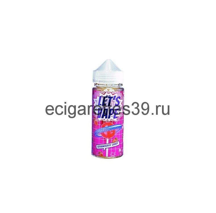 Жидкость Let's vape Strawberry Candy , 120 мл.