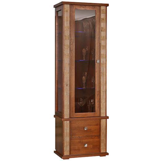 Шкаф с витриной Тунис П343.19Ш