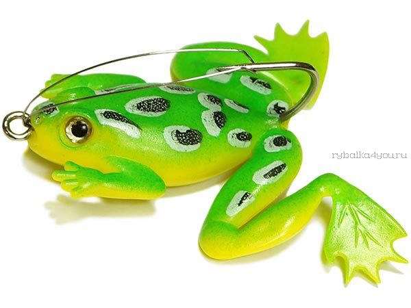 Купить Незацепляйка Kosadaka мягкая оснащ. тонущая Лягушка с лапами LF27 50мм/ 10гр / цвет: С72