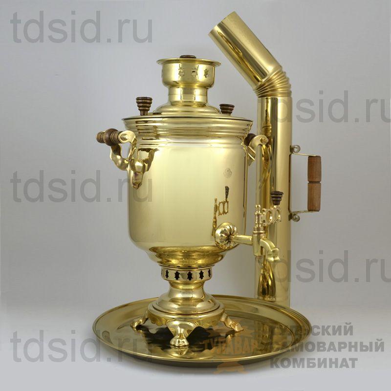 Набор 5л «Традиционный» самовар, поднос, труба