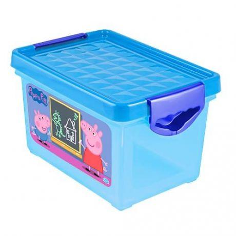 """Дет.ящик для хранения мелочей """"Свинка Пеппа"""" 5,1л"""
