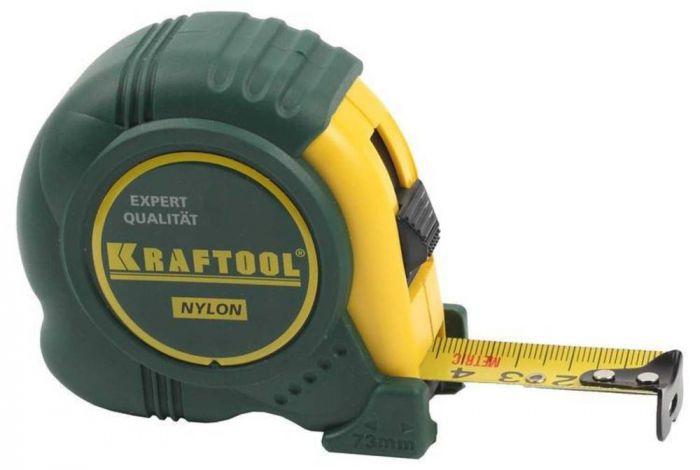 Рулетка Kraftool 5 м, 19мм с нейлоновым покрытием
