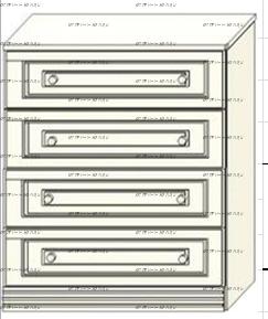 Комод Ферсия, мод. 1 МДФ (90х42/52х90)
