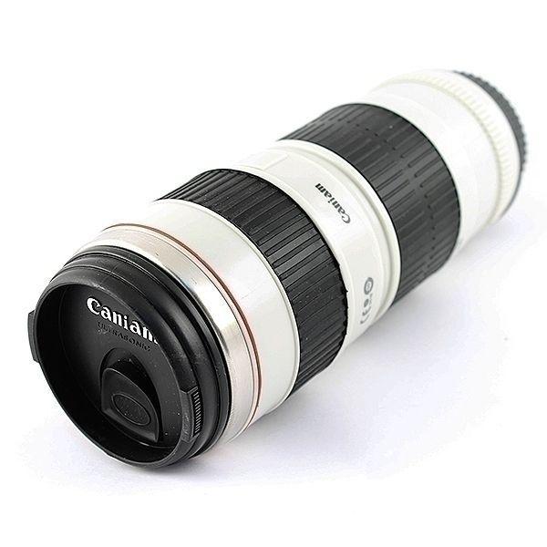 Термостакан в виде объектива от фотоаппарата 9 белый