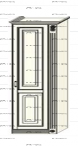 Шкаф-пенал (колонка) Ферсия, мод. 9 для белья (Б) или платья (П) МДФ