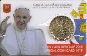 50 центов (Регулярный выпуск) Ватикан  2018 BU