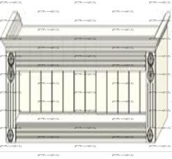 Антресоль с открытой нишей Ферсия, мод. 36 МДФ