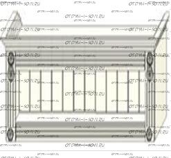 Антресоль открытой нишей Ферсия, мод. 36 МДФ