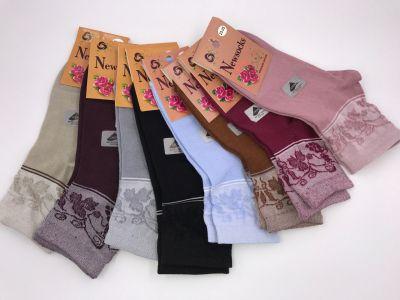 Женские легкие хлопковые носки с лайкрой р-р 36-40