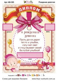 Рождение Девочки. Диплом-метрика