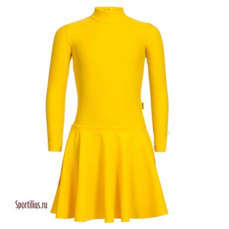 Платье из бифлекса желтое