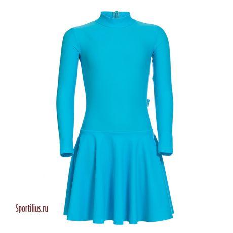 Платье бирюзовое для бальных танцев