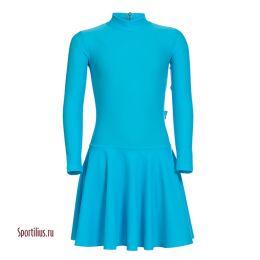 Платье из бифлекса бирюзовое