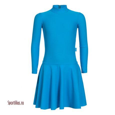 тренировочное платье для танцев голубое