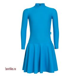 Платье из бифлекса голубое