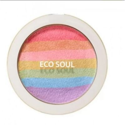 Румяна-хайлайтер компактные The SAEM Eco Soul Prism Blusher 8гр