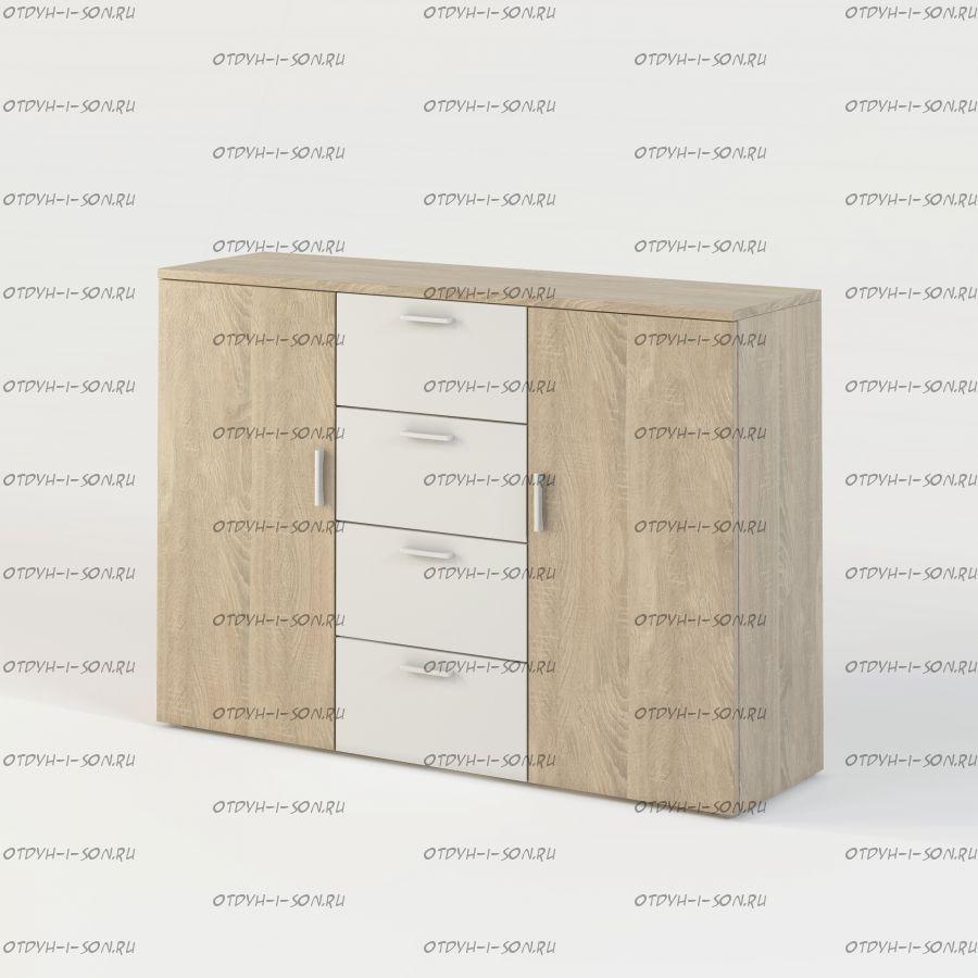 Комод (4 ящика + 2 двери) Монморанси мод.1406.М2 (132х42х95)