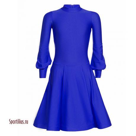 "Платье из бифлекса синее ""Сандра"""