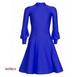 Платье для бальных танцев синее