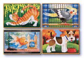 Деревянные пазлы Домашние животные, MELISSA&DOUG