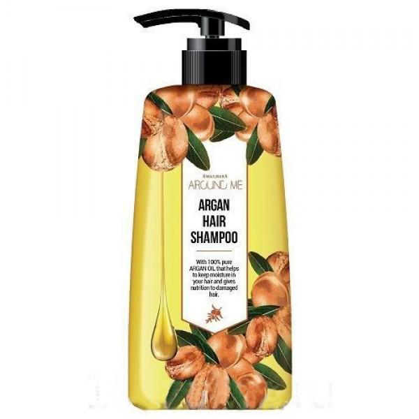 Шампунь для поврежденных волос Welcos Around me Argan Hair Shampoo