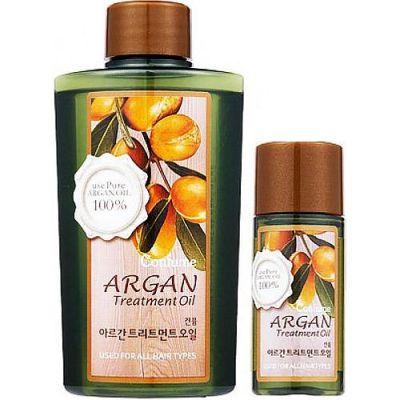 Масло аргановое для волос, тела и ногтей (набор) Welcos Confume Argan Treatment Oil 120мл+25мл