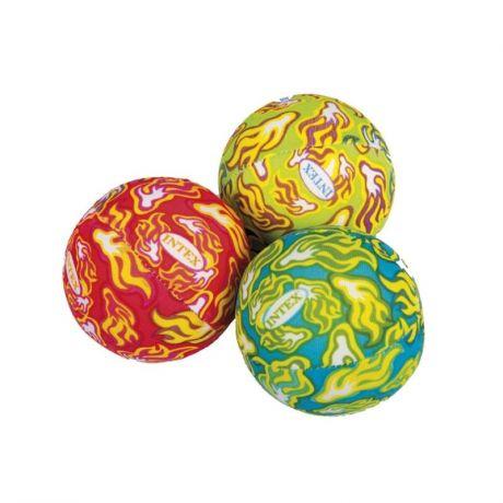 Мячики для игры в бассейне 3 цвета, 55505 Intex